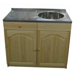 Кухненски шкаф с мивка 100 х 60 с дясно кръгло корито