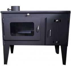 Готварска печка на твърдо гориво Габро с ляв комин
