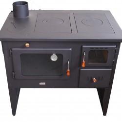 Готварска печка на твърдо гориво Prity W12 PM ляв комин
