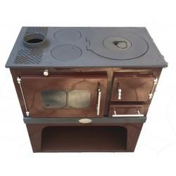 Готварска печка на твърдо гориво Zvezda Класик с ляв комин емайлирана