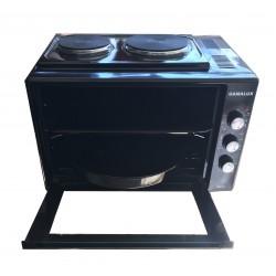 Малка готварска печка Gamalux I 60HPBK2 двойно стъкло - черна