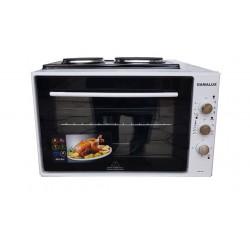 Малка готварска печка Gamalux I 60HPW 2 двойно стъкло - бяла