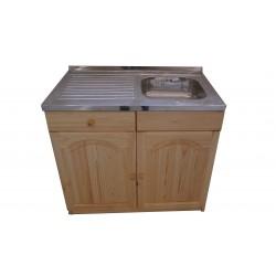 Кухненски шкаф с мивка - 100 х 60 с дясно корито