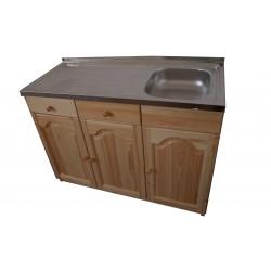 Кухненски шкаф с мивка - 120 х 50 с дясно корито