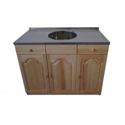 Кухненски шкаф с мивка - 120 х 60 със средно кръгло корито