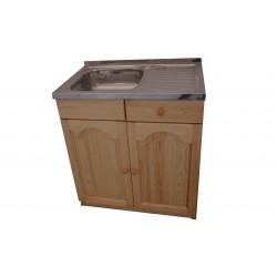 Кухненски шкаф с мивка - 80 х 50 с ляво корито